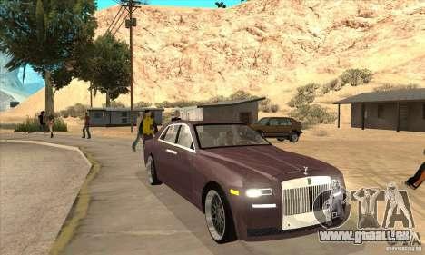 Rolls-Royce Ghost 2010 für GTA San Andreas Rückansicht