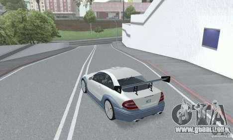 Mercedes-Benz CLK DTM AMG pour GTA San Andreas vue intérieure