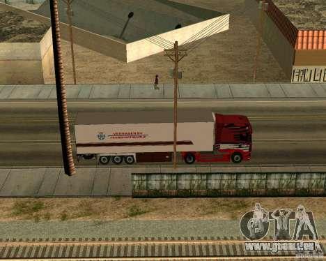 Scania TopLine pour GTA San Andreas vue arrière
