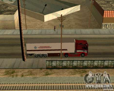 Scania TopLine für GTA San Andreas Rückansicht