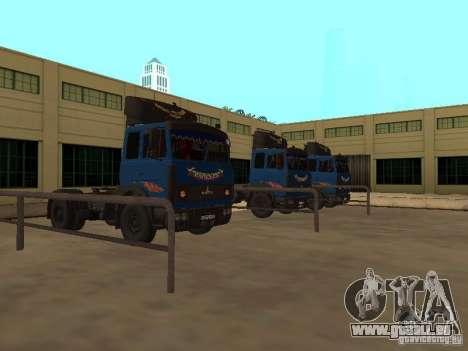 MAZ 5432 YAMZ-238 b 4 x 2 pour GTA San Andreas laissé vue