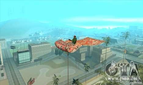 Flying Carpet v.1.1 pour GTA San Andreas sur la vue arrière gauche