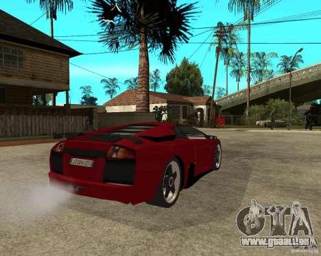 Lamborghini Murcielago SHARK TUNING pour GTA San Andreas sur la vue arrière gauche