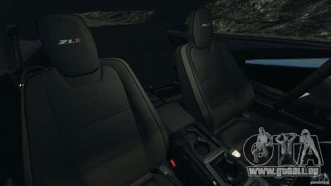 Chevrolet Camaro ZL1 2012 v1.2 für GTA 4 Innenansicht