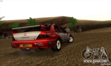 Mitsubishi Lancer Evolution VII pour GTA San Andreas sur la vue arrière gauche