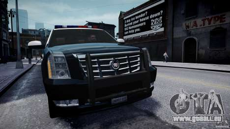 Cadillac Escalade Police V2.0 Final für GTA 4 rechte Ansicht