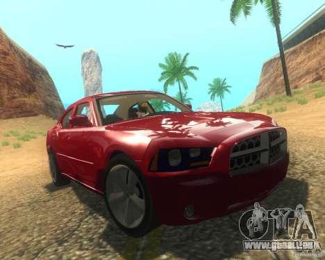 Dodge Charger 2011 pour GTA San Andreas vue de dessous
