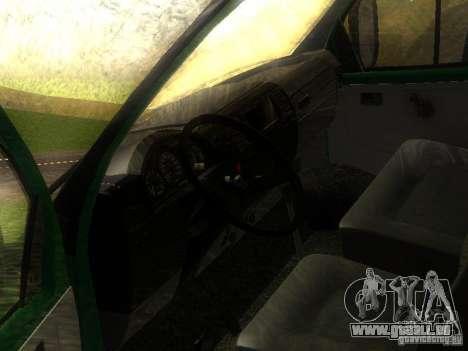 Gazelle 33021 pour GTA San Andreas vue intérieure
