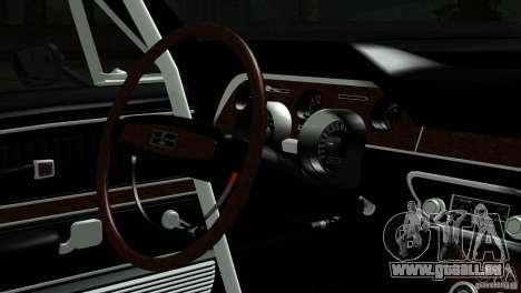 Shelby GT500 1969 pour GTA San Andreas vue de droite