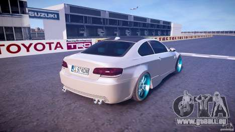 BMW E92 pour GTA 4 vue de dessus