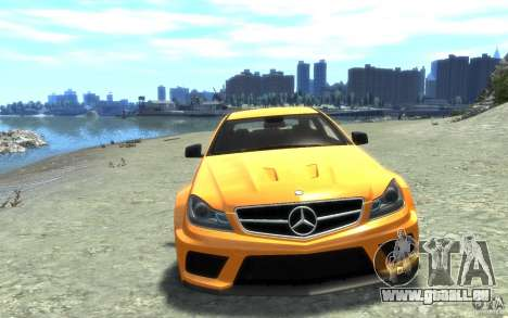 Mercedes-Benz C63 AMG 2012 für GTA 4 Innenansicht