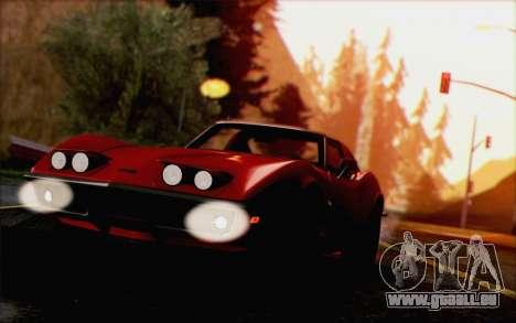 Chevrolet Corvette C3 Stingray T-Top 1969 pour GTA San Andreas vue arrière