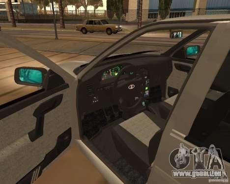 VAZ-2112 pour GTA San Andreas vue arrière