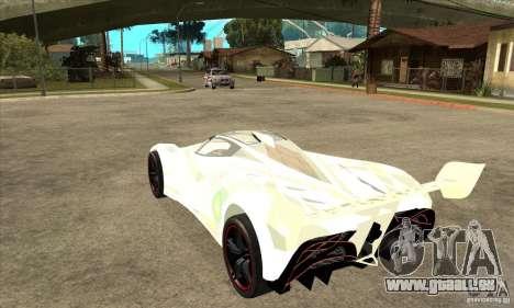 Mazda Furai pour GTA San Andreas sur la vue arrière gauche