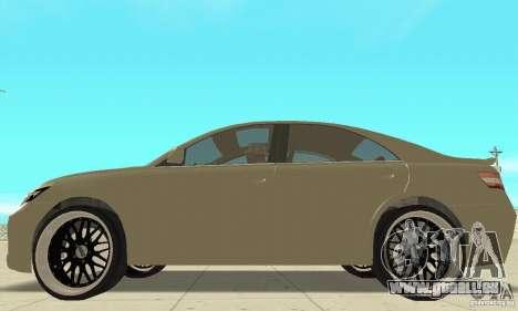 Toyota Camry Tuning 2010 pour GTA San Andreas sur la vue arrière gauche