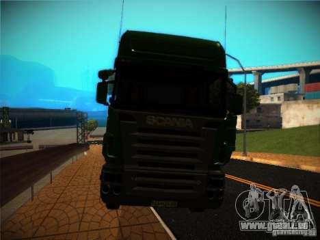 Scania R580 pour GTA San Andreas vue intérieure