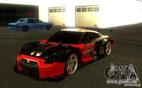 Nissan Skyline R35 GTR für GTA San Andreas Räder