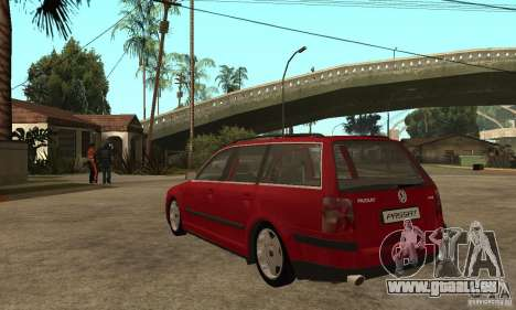 VW Passat B5 Variant für GTA San Andreas zurück linke Ansicht
