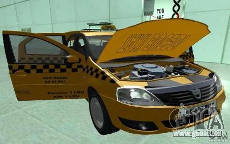 Dacia Logan Taxi Bucegi für GTA San Andreas Rückansicht