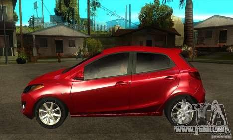 Mazda 2 2011 für GTA San Andreas linke Ansicht