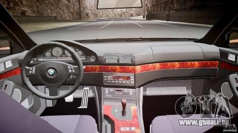 BMW 530I E39 stock white wheels pour GTA 4 vue de dessus