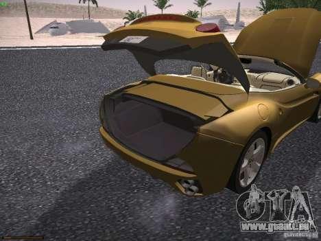 Ferrari California pour GTA San Andreas vue de côté