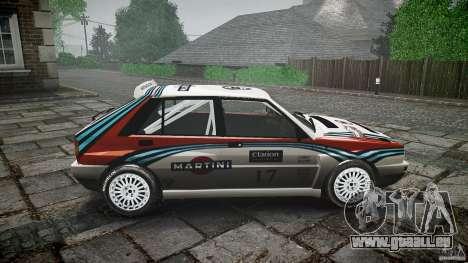 Lancia Delta Integrale Martini 1992 pour GTA 4 est une vue de l'intérieur