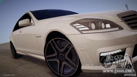 Mercedes-Benz S65 AMG pour GTA San Andreas vue arrière