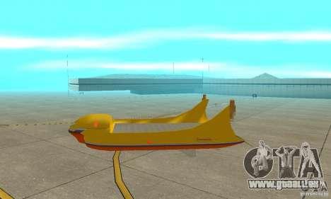 Transporteur aérien de plate-forme élévatrice pour GTA San Andreas sur la vue arrière gauche