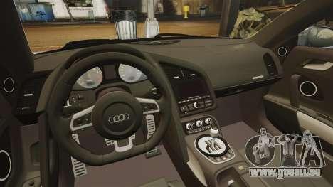 Audi R8 für GTA 4 Seitenansicht