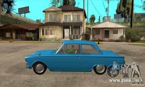 Lotus Cortina Mk1 1963 pour GTA San Andreas laissé vue