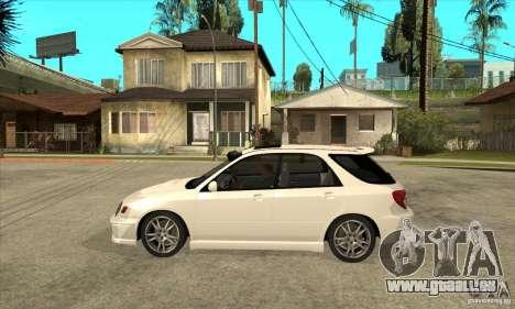 Subaru Impreza WRX Wagon 2002 pour GTA San Andreas laissé vue