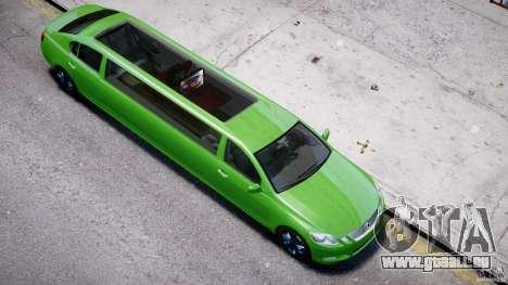 Lexus GS450 2006 Limousine pour GTA 4 est une vue de dessous