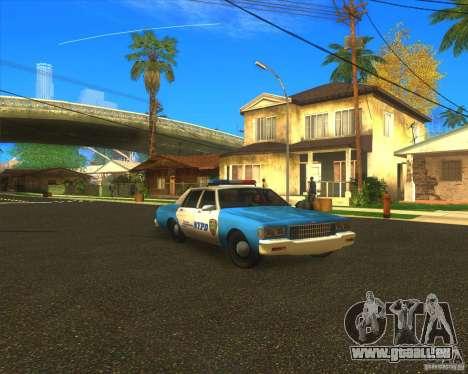 Chevrolet Caprice Classic 1986 NYPD pour GTA San Andreas vue arrière