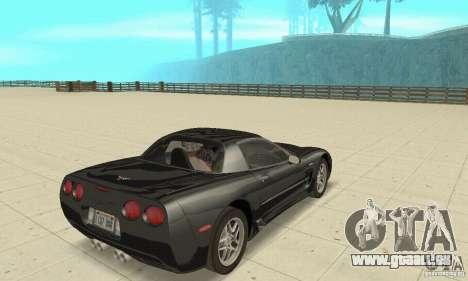 Chevrolet Corvette 5 pour GTA San Andreas laissé vue