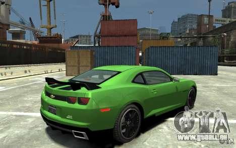 Chevrolet Camaro 2010 Synergy Edition v1.3 pour GTA 4 est un droit