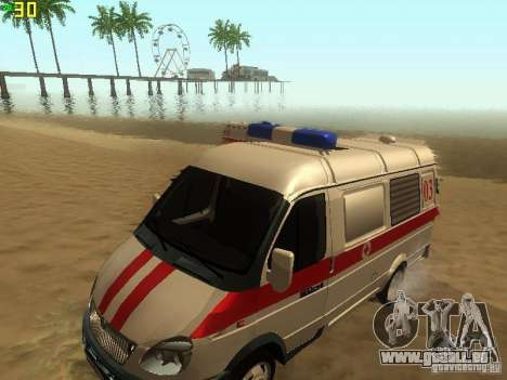 Gazelle 32214 Ambulance pour GTA San Andreas vue de droite