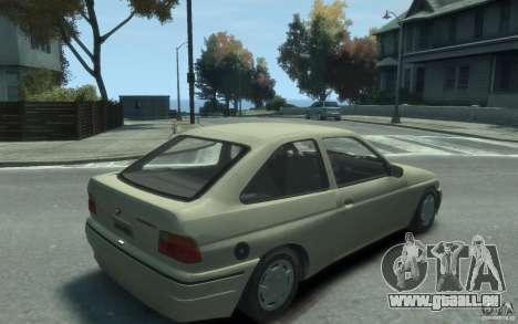 Ford Escort L 1994 pour GTA 4 est un droit
