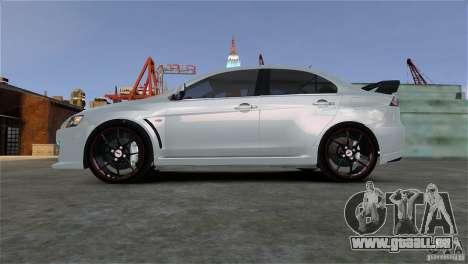 Mitsubishi Lancer Evo X pour GTA 4 est un droit