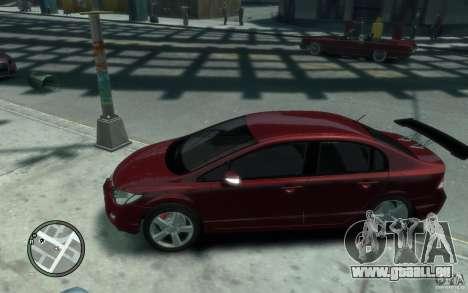 Honda Civic 2006 pour GTA 4 est une gauche