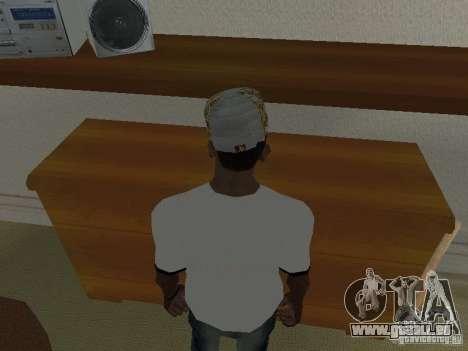 New Era White cap pour GTA San Andreas deuxième écran