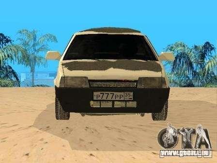 VAZ 21099 hiver pour GTA San Andreas vue de droite
