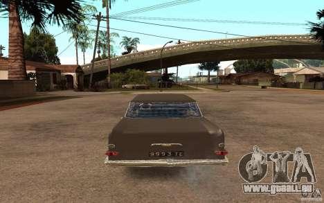 Opel Kapitan pour GTA San Andreas sur la vue arrière gauche