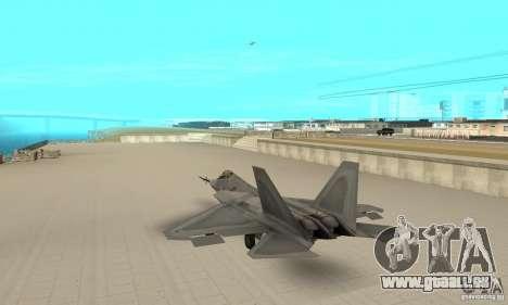 YF-22 Grey pour GTA San Andreas sur la vue arrière gauche