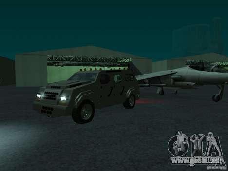 FBI Truck from Fast Five pour GTA San Andreas sur la vue arrière gauche