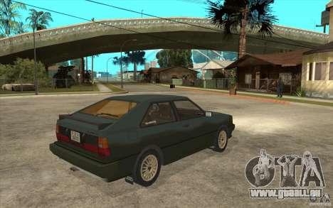 Audi Quattro für GTA San Andreas rechten Ansicht