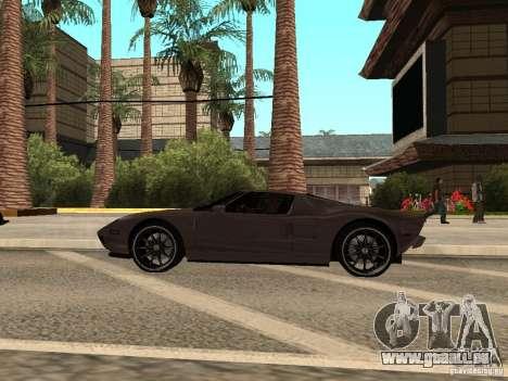 Ford GT für GTA San Andreas zurück linke Ansicht