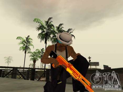 Black and Yellow weapons für GTA San Andreas her Screenshot
