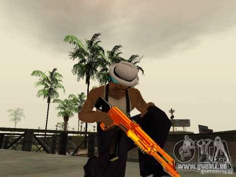 Black and Yellow weapons pour GTA San Andreas quatrième écran