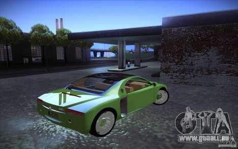 Renault Fiftie Concept für GTA San Andreas zurück linke Ansicht